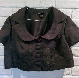 Lane Bryant plus size 20w black bolero jacket